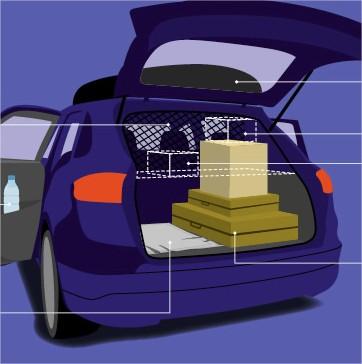 optimiser le rangement de votre coffre de voiture auto ecole etairos mont vrain 77. Black Bedroom Furniture Sets. Home Design Ideas